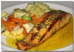 Salmon Plate (danniepolley) Tags: food chicken living beef mexican eat seafood nicaragua dine diet celebrate retirement