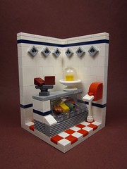 The Butcher's Deli (Walter Benson) Tags: food cheese store cows lego beef small ticket mini scene ham meat pork eat butcher steak pigs deli collectible grocery vignette diorama collectable minifigures series6 eurobricks legofood eurobrickscollectibleminifigurecontest
