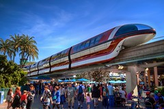 Monorail Monday (Edition 20) (Coasterluver) Tags: disneyland disney monorail tomorrowland hdr monorailred monorailmonday coasterluver