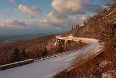 Winter Light on the Blue Ridge Parkway (R. Keith Clontz) Tags: morning sunlight snow northcarolina rhododendron hawksbill blueridgeparkway tablerock sunligh grandfathermountain mountainridges linncoveviaduct blueskyclouds balsamtrees rkeithclontz blueridgepics fraserfirtrees blueridgelight