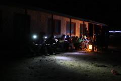Dinner on a Multi sport treking Mountain biking rafting kayaking trip in Nepal