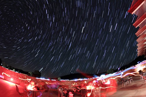 Star Trails at the Observatory Cafe