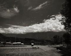 Day 3: polarising (p2-r2) Tags: trees sky blackandwhite window sepia clouds nikon venezuela parking merida logic polariser tokina1224f4 lpar d7000