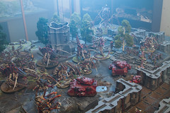 Blood Angels hold out against the Tyranids - for a little while... (jontlaw) Tags: blood space games 40k angels workshop warhammer marines atmospheric zone 40000 wargaming tyranids mortalis