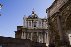 """Santi Luca e Martina & Arch of Septimius Severus • <a style=""""font-size:0.8em;"""" href=""""http://www.flickr.com/photos/89679026@N00/6980283353/"""" target=""""_blank"""">View on Flickr</a>"""