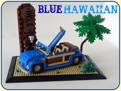VW Beetle...Blue Hawaiian (Lino M) Tags: blue classic car vw bug volkswagen hawaii surf lego beetle woody convertible surfing cocktail hawaiian build tiki woodside challenge lino lugnuts loveforthebug