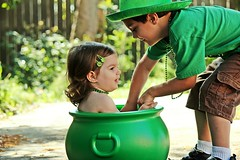 (Kristi1228) Tags: green canon children beads siblings shamrock stpatricksday potofgold