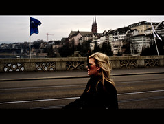 It's a beautiful town (Sibilus_Basilea) Tags: street city bridge urban woman lady photography candid scene basel brücke minster münster mittlere