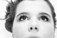 (Maieutica) Tags: portrait bw girl face look hair nose see eyes bn occhi sguardo ritratto viso primopiano ragazza naso capelli faccia guardare volto vedere narici