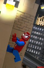 The Amazing Spider-man! (chrisofpie) Tags: city chris man wall pie spider lego spiderman climbing legos hero superhero crawling chrisofpie