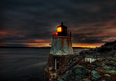 The Castle Hill Lighthouse Narragansett Bay in Newport, Rhode Island (Swissrock) Tags: ri sunset wallpaper usa landscape nikon september rhodeisland newport hdr lightroom ligthouse narragansettbay 2011 tonemapping castlehilllighthouse d700 andykobel
