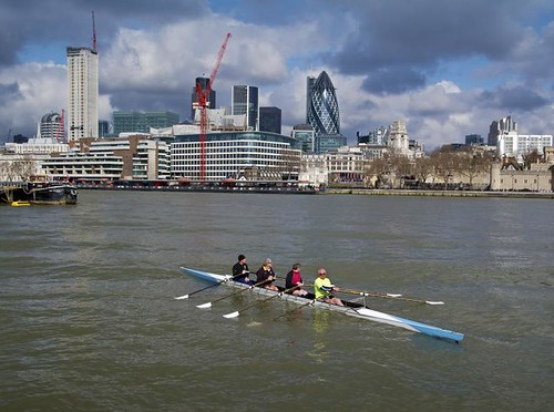 Rowing on the Thames - London