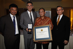 Putera Sampoerna Received The Peace Through Commerce Medal Award 2011