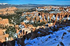 Bryce Canyon: Inspiration Point Scene (Pat's Pics36) Tags: snow utah nationalpark redrocks bryce amphitheater inspirationpoint rockformations brycecanyonnationalpark nikond90 nikkor18to200mmvrlens