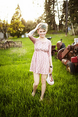 Haley (jordanvoth.com) Tags: light sun tractor cute girl grass canon shoes dress natural mark jordan ii haley voth 35l 5d2