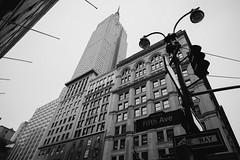 Fifth Ave (anafuentes) Tags: nyc newyorkcity travel blackandwhite newyork architecture us cityscapes eeuu 14mm fujixe1