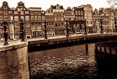 (McQuaide Photography) Tags: holland water netherlands monochrome amsterdam sepia canon mono europe nederland powershot toned g15 mcquaidephotography