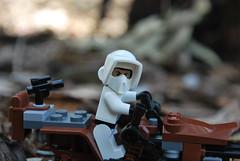 are you a rebel? (bricklegowars) Tags: starwars nikon lego legostarwars endor d60 moonofendor scouttrooperlego