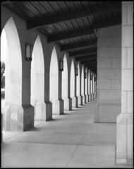 through the halls (KyleKisling) Tags: blackandwhite film architecture mediumformat pentax ishootfilm 120film 6x7 ilford blackandwhitephotography architecturalphotography ilforddelta100 pentax6x7 shootfilm filmisnotdead filmshooter