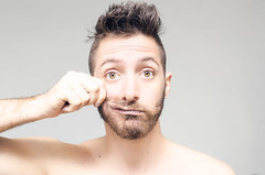 (Damien Cox) Tags: uk portrait selfportrait man male me face self ego myself beard eyes nikon hand arm masculine ears moi lips mustache autorretrato scruff stubble pulled i damiencox damiencoxcouk