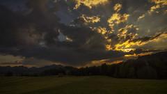 Sonnenuntergang im Allgäu (matthiashn) Tags: sunset alps clouds germany landscape bayern bavaria alpen landschaft allgäu hopferwald