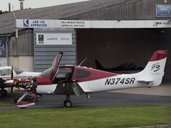 N374SR Cirrus SR22 (Aircaft @ Gloucestershire Airport By James) Tags: james airport gloucestershire lloyds cirrus sr22 egbj n374sr