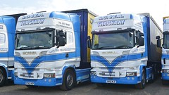 YT63 VEP & YN16 MLE (panmanstan) Tags: truck wagon yorkshire transport lorry commercial vehicle freight scania hayton haulage r560 r580
