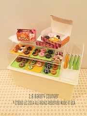 1:6 Bakery Counter (i love miniatures) Tags: 16 rement miniaturefood playscale miniatureshop