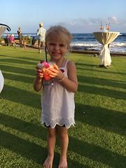 Sadie With Her Drink At The Reception (fethers1) Tags: kauai beachhouserestaurant kauaivacation2016 ericandtiffanyswedding