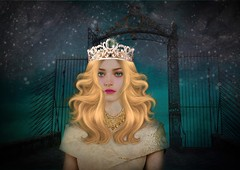 Princess of the Night (Swissrock) Tags: light night photoshop hair artwork digitalart manipulation fantasy brushes crown deviantart photoart modell challenge lightroom digitalpaint photomatix andykobel princesofthenight