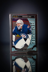 Connor Hellebuyck Marquee Rookie Platinum (cdn_jets_cards) Tags: ice sports hockey cards marquee nhl winnipeg foil jets deck upper platinum rookie rookies goalies nhlpa