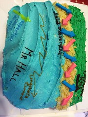 A longshore drift cake, of course (Ginni B) Tags: cake leaving butter gift present icing geography gcse longshoredrift geographycake edexcelgeography longshoredriftcake