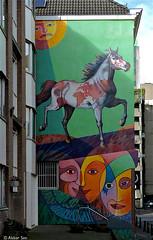 Rotterdam Street art : Jorge Kata Nez (Akbar Sim) Tags: streetart holland netherlands rotterdam mural nederland rotjeknor akbarsimonse akbarsim jorgekatanez eltrotamundo
