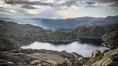 Norvegian Light (Tintin44 - Sylvain Masson) Tags: light mountain snow storm nature norway montagne landscape pentax no lac gloire nuage orage norvege rogaland lysefjord kjerag k3 norvge tamron1750 fjorf