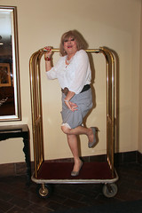 new120653-IMG_3165t (Misscherieamor) Tags: hotel tv transformation feminine cd femme tgirl transgender mature sissy tranny transvestite crossdress ts gurl tg travestis travesti travestido travestie m2f luggagecart xdresser tgurl traviesa travestito travestit transwoman showingslip houndstoothpencilskirt sheersilkblouse