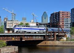 Amtrak heritage back in Montreal two days later (Michael Berry Railfan) Tags: train quebec montreal amtrak ge adirondack generalelectric passengertrain amfleet peelbasin amtk184 p42dc heritageunit amtk68 genesisseries sthyacinthesub amtrakphaseiv amtk694