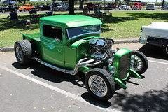 Green Ford Pick-up (eagle69er) Tags: show car grove micke 2016