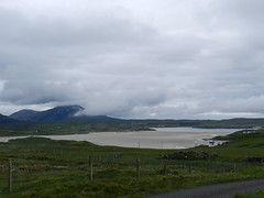 Mealaisbhal(Mealisval, 1,883ft), from Uig, Isle of Lewis, June 2016, Explored (allanmaciver) Tags: mealisval mealaisbhal uig lewis island western isles mist cover mountain sand ardroil cloud grey rain dark allanmaciver