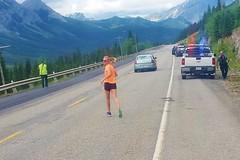 Leg 7 Runner Returns (Downhillnut) Tags: mountains calgary race kananaskis longview relay nakiska 2016 crr k100 100miles relayteam 10runners calgaryroadrunners k1002016