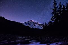 Mt. Rainier - Night (2.OS.GS.4) Tags: longexposure nightphotography nature night stars washington nationalpark rainier mtrainier