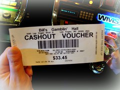 Cashout Voucher (knightbefore_99) Tags: usa hotel cool bills lasvegas awesome nevada martini ticket casino strip penny win slot bet voucher winning cashout