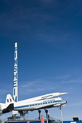 Sinsheim Aviation & Auto Museum, Germany (dkjphoto) Tags: auto travel tourism car sign museum germany airplane fly flying europe tour antique aircraft aviation flight technik tourist concorde airliner airfrance supersonic badenwrttemberg sinsheim tupolevtu144 dennisjohnson autotechnikmuseumsinsheim wwwdenniskjohnsoncom
