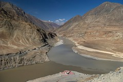 Zanskar and Indus river confluence Adventure rafting and Kayaking