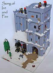 Snow Stronghold (Jack Riveorput) Tags: snow ice fire jon lego song watch nights stronghold