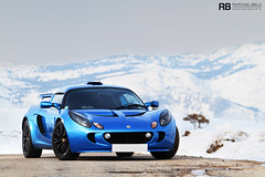 The Roof Of The World (Raphal Belly) Tags: pictures blue winter light snow cars car colin private photography eos is photo shoot photographie photoshoot lotus s right bleu belly exotic 7d laser raphael luxury rb bleue supercars chapman exige raphal sance worldcars