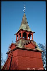 Kyrkklockan Mora Kyrka (mmoborg) Tags: blue sky sweden himmel sverige blå mora mmoborg mariamoborg