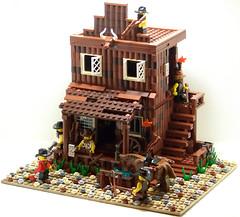 The Law (Silenced_pp7) Tags: west brick lego bricks full prototype fist western custom vignette proto minotaur moc vig vigs brickarms brickwarriors