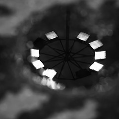 mechanical eye (Vasilis Amir) Tags: blackandwhite abstract reflection water monochrome square puddle lights mud  vasilisamir