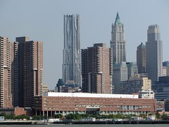 Lower Manhattan (Loozrboy) Tags: city nyc travel newyork river boat tour skyscrapers harbour manhattan gehry hudson