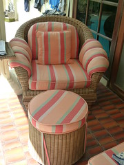 oversized rattan easy chair and ottoman 2 (mgathercole) Tags: sale gathercole